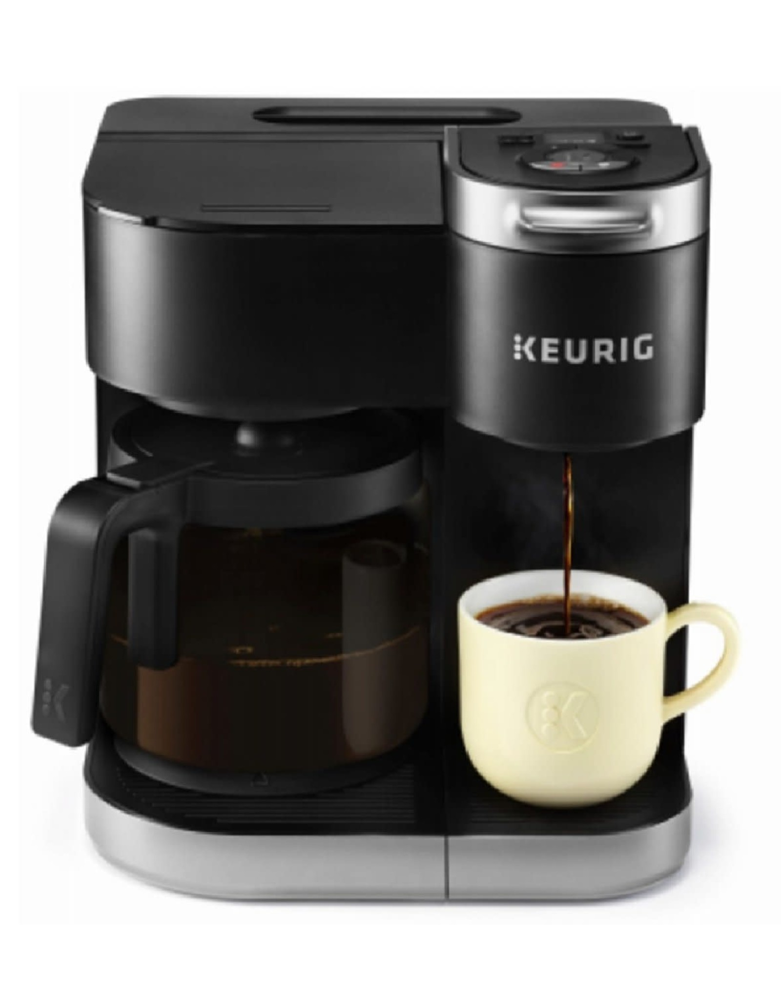 keurig 5000204977 Keurig K-Duo Coffee Maker, Single Serve and 12-Cup Carafe Drip Coffee Brewer, Compatible with K-Cup Pods and Ground Coffee, Black