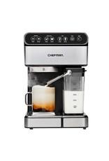 CHEFMAN RJ54 Chefman 6-in-1 Stainless Steel 15-Bar Pump Espresso Machine