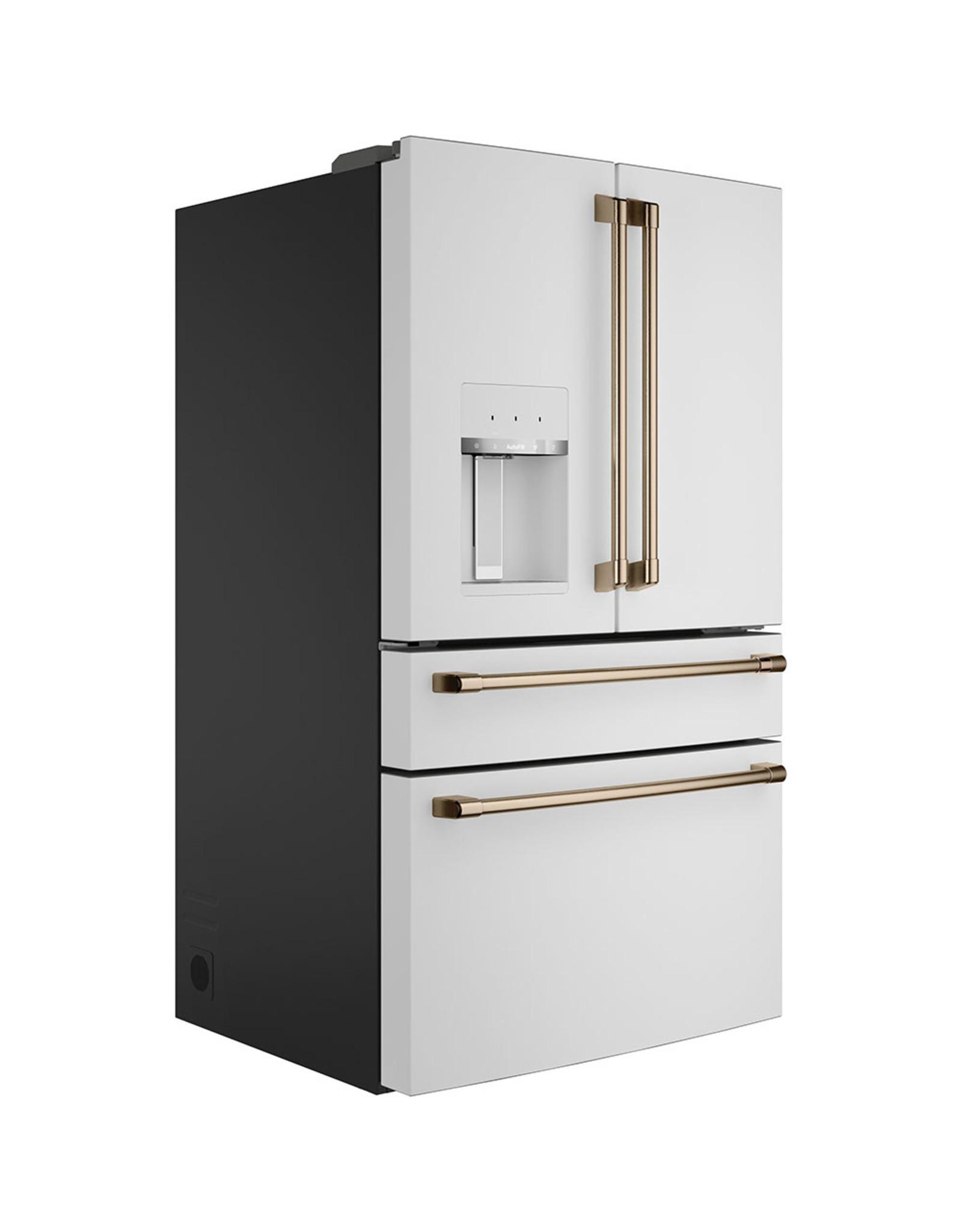 Cafe' CVE28DP4NW2 27.8 cu. ft. Smart 4-Door French Door Refrigerator in Matte White, Fingerprint Resistant and ENERGY STAR