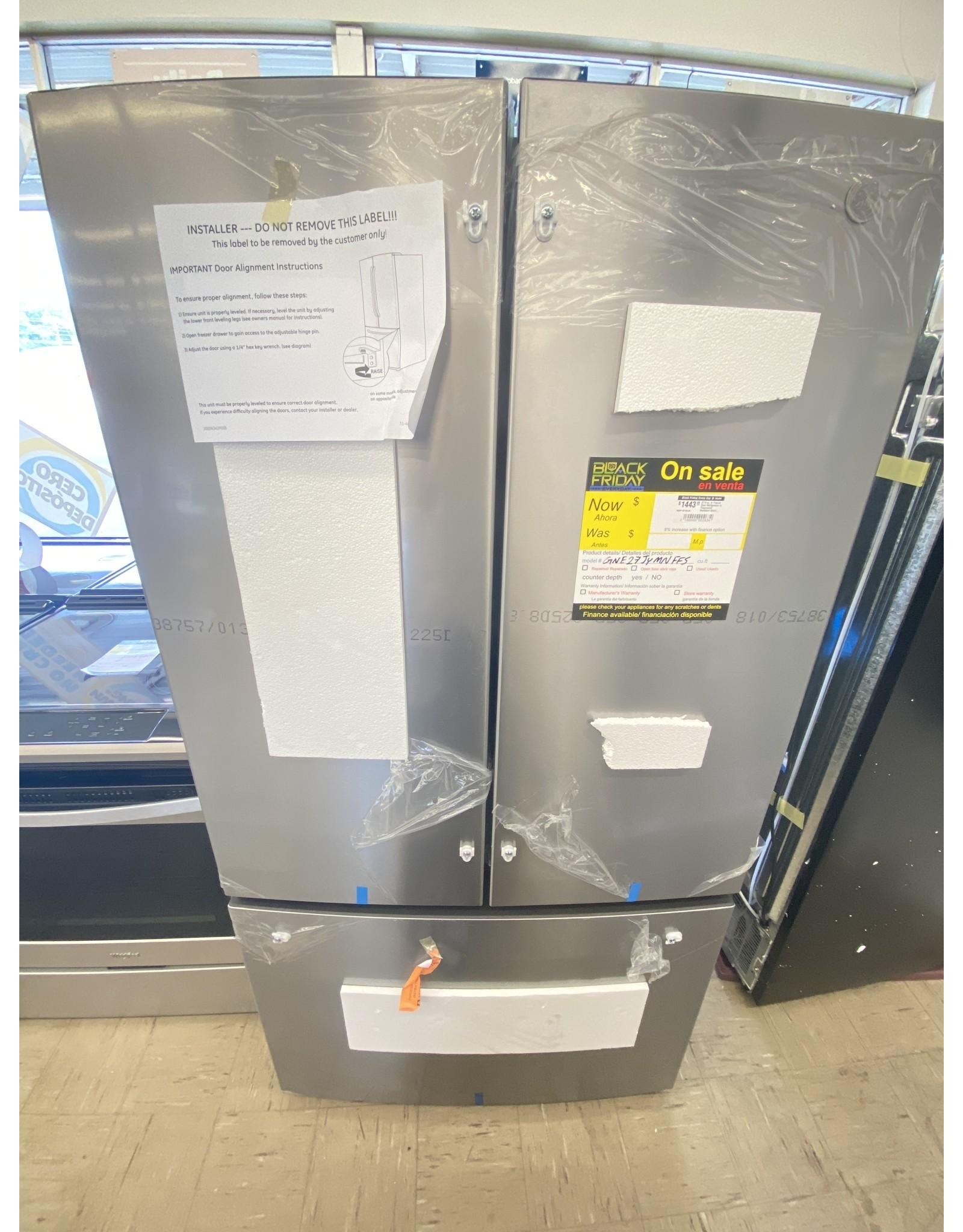 GE 27.0 cu. ft. French Door Refrigerator in Fingerprint Resistant Stainless Steel, ENERGY STAR