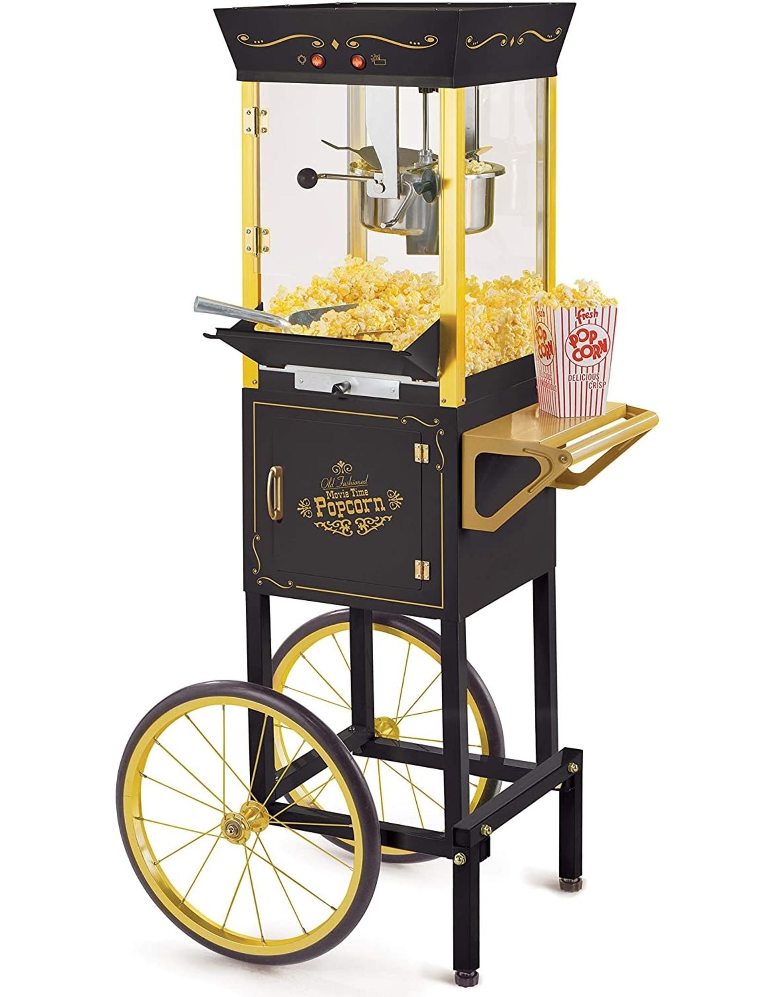 Nostalgia Vintage 8 oz. Red Oil Popcorn Machine with Cart