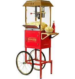 """Nostalgia CCP1000RED Nostalgia Vintage 10-Ounce Professional Popcorn and Concession Cart 