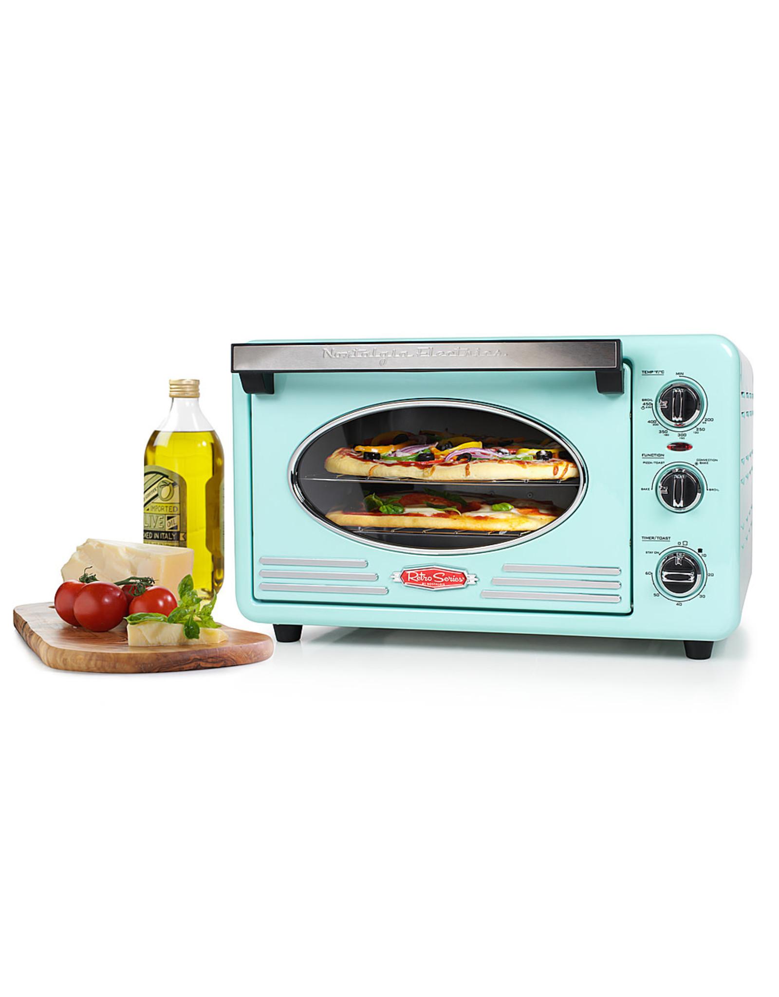 Nostalgia TOV2AQ Nostalgia - RTOV2AQ Retro 12-Slice Convection Toaster Oven - Aqua