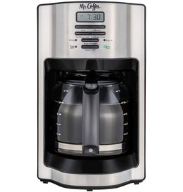 mr. coffee 2121121 Mr. Coffee - 12-Cup Coffee Maker with Rapid Brew System - Stainless Steel