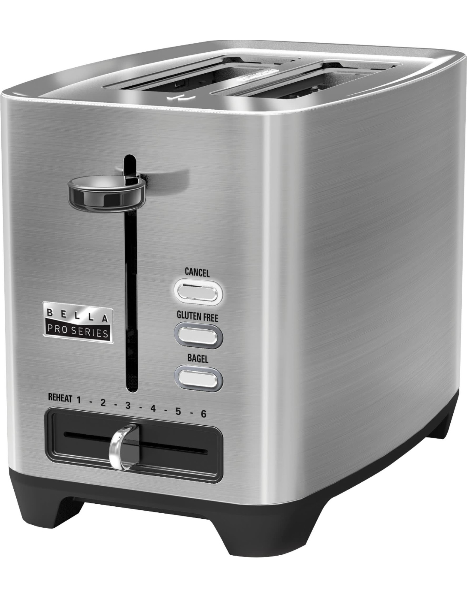 Bella pro 90075 Bella - Pro Series 2-Slice Extra-Wide-Slot Toaster - Stainless Steel