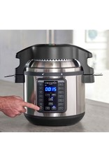 Crock-pot Crock-Pot - 8-Qt. Express Crock Programmable Slow Cooker and Pressure Cooker with Air Fryer Lid - Stainless Steel