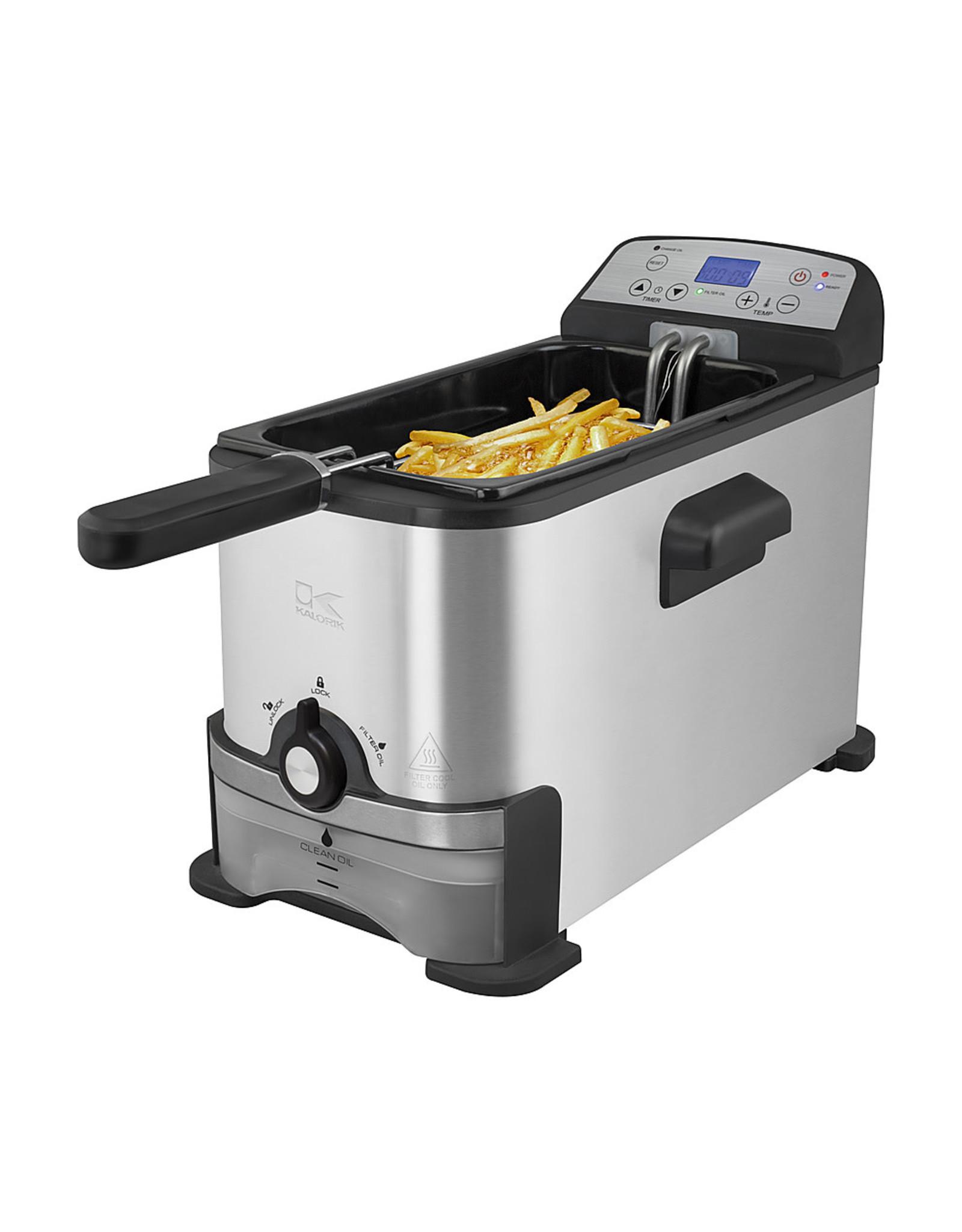 KALORIK FT 44247 BK Kalorik - 3.2qt Digital Deep Fryer - Stainless steel