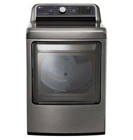 LG Electronics DLE7300VE 7.3 cu. ft. Large Smart Front Load Electric Vented Dryer with EasyLoad Door & Sensor Dry in Graphite Steel, ENERGY STAR