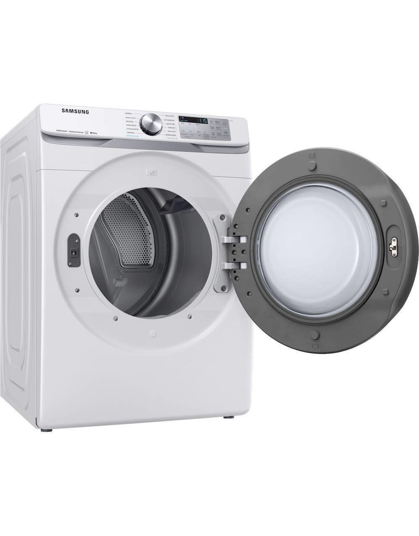 SAMSUNG Samsung 7.5 cu. ft. 240-Volt White Front Load Electric Dryer with Steam Sanitize+, ENERGY STAR