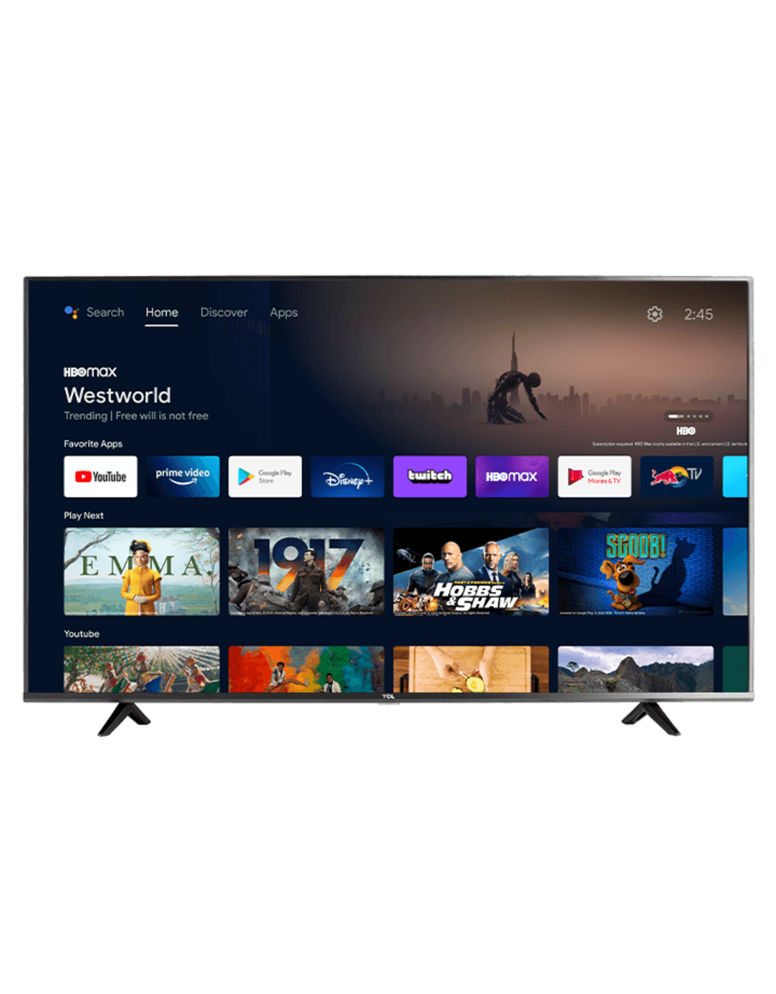 """TCL TCL 43"""" CLASS 4-SERIES 4K UHD HDR LED SMART ANDROID TV - 43S434"""
