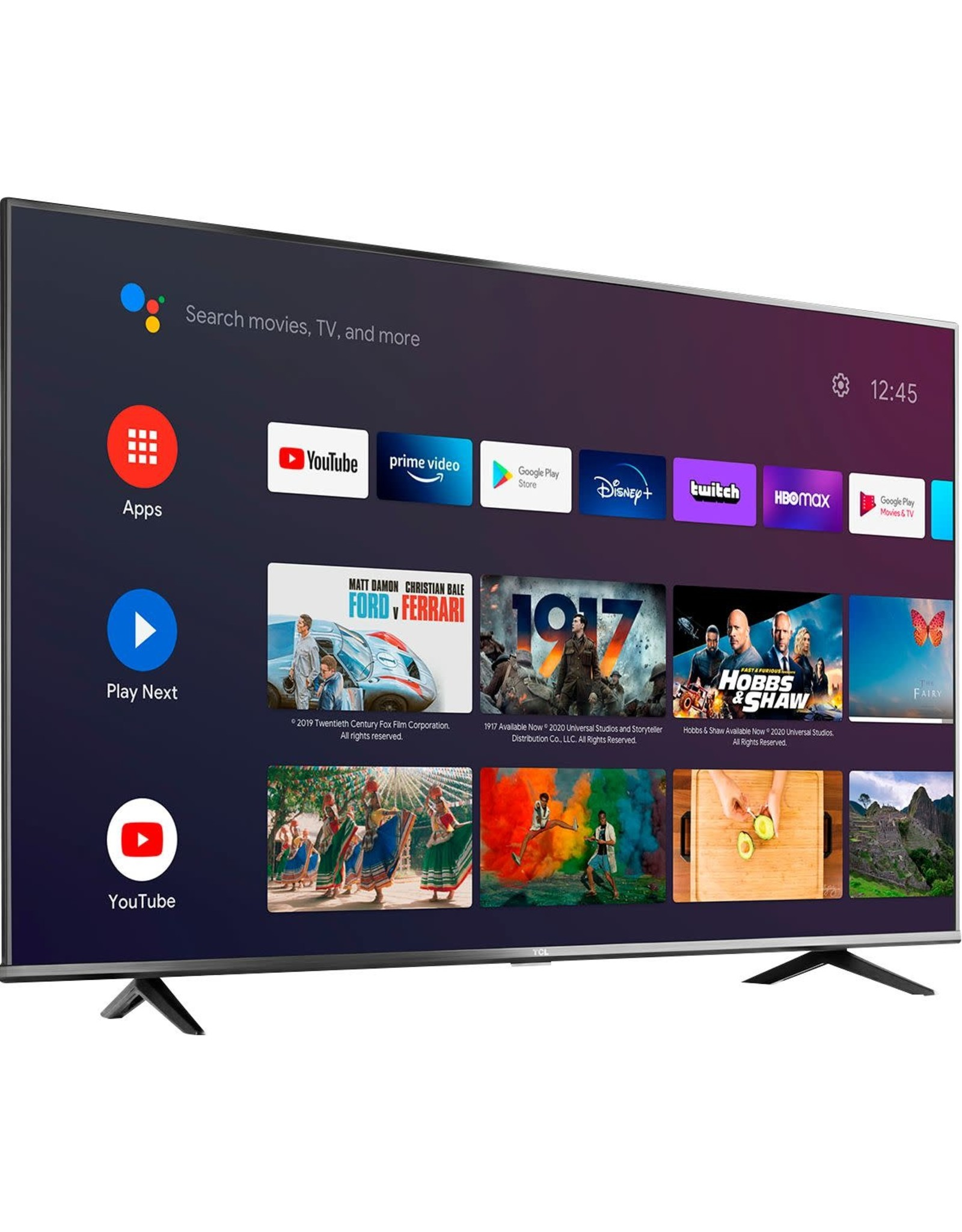 """TCL TCL - 75"""" Class 4 Series LED 4K UHD Smart Android TV"""