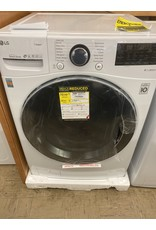LG Electronics 4.5 cu. ft. High Efficiency Ultra Large Smart Front Load Washer TurboWash360, Steam & Wi-Fi in White, ENERGY STAR