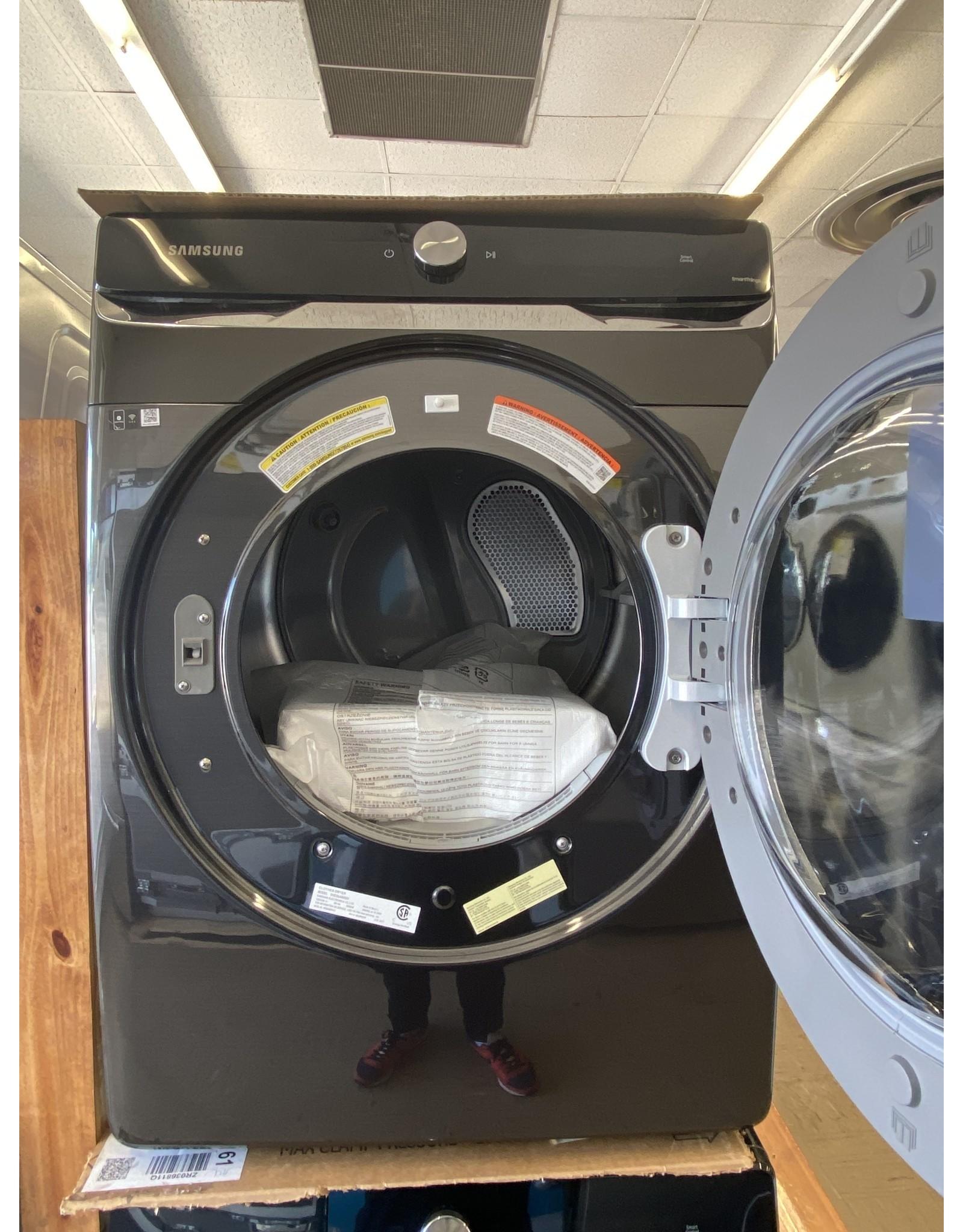 SAMSUNG DVE50A8800V 7.5 cu. ft. 240-Volt Brushed Black Electric Dryer with Smart Dial and Super Speed Dry, ENERGY STAR