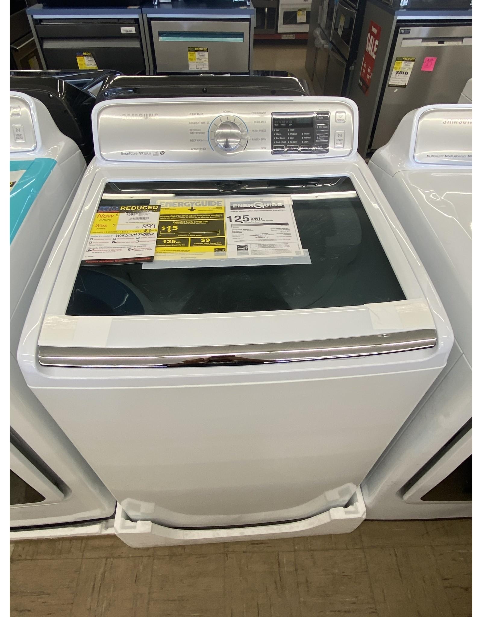 SAMSUNG WA50M7450AW Samsung 5.0 cf TL washer w/ VRT