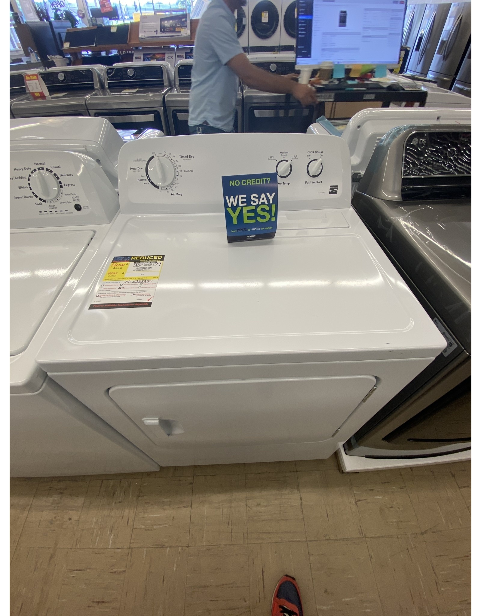 KENMORE Kenmore 62332 7.0 cu. ft. Electric Dryer w/ Wrinkle Guard - White