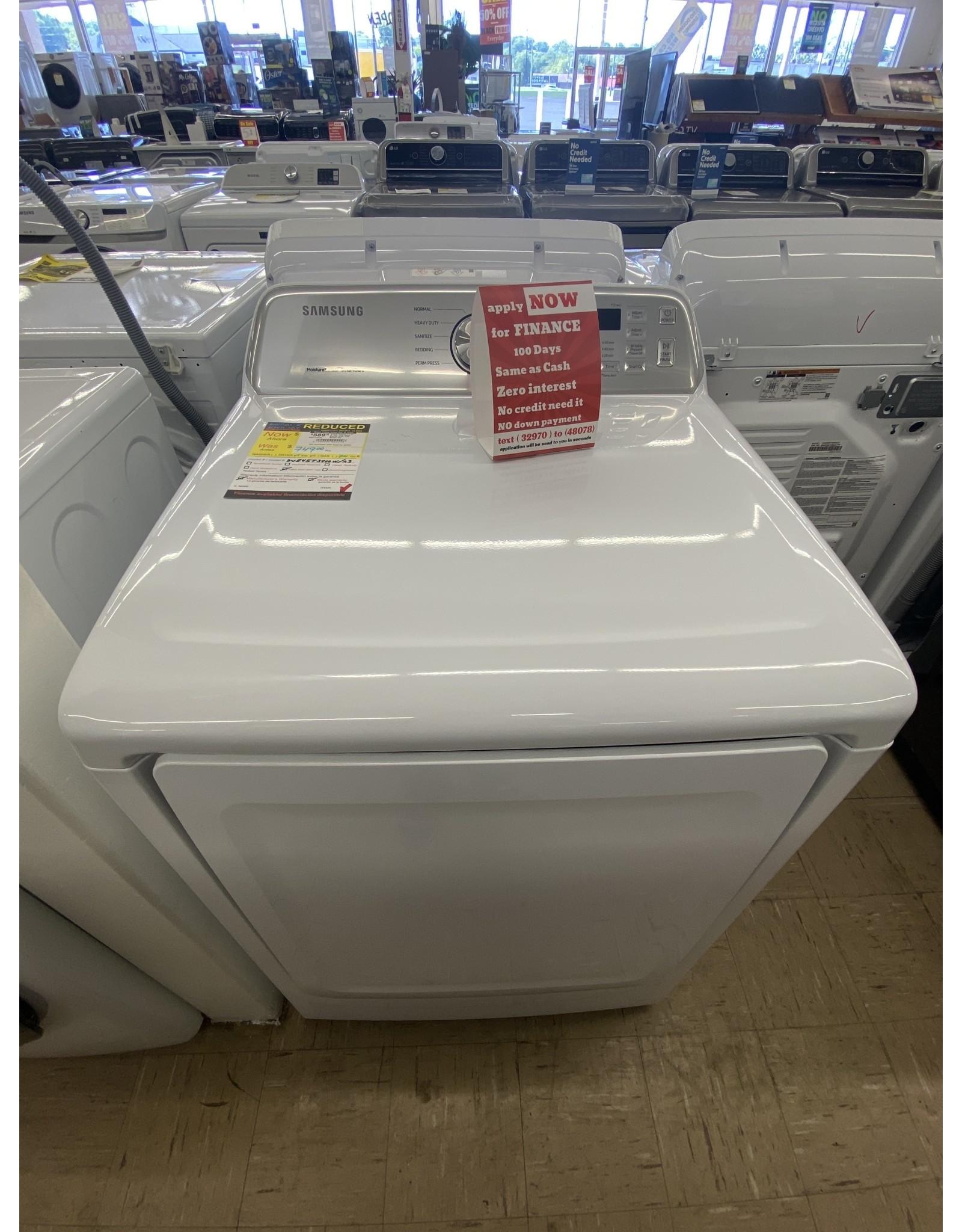 SAMSUNG DVE45T3400W  7.4 cu. ft. 240-Volt White Electric Dryer with Sensor Dry