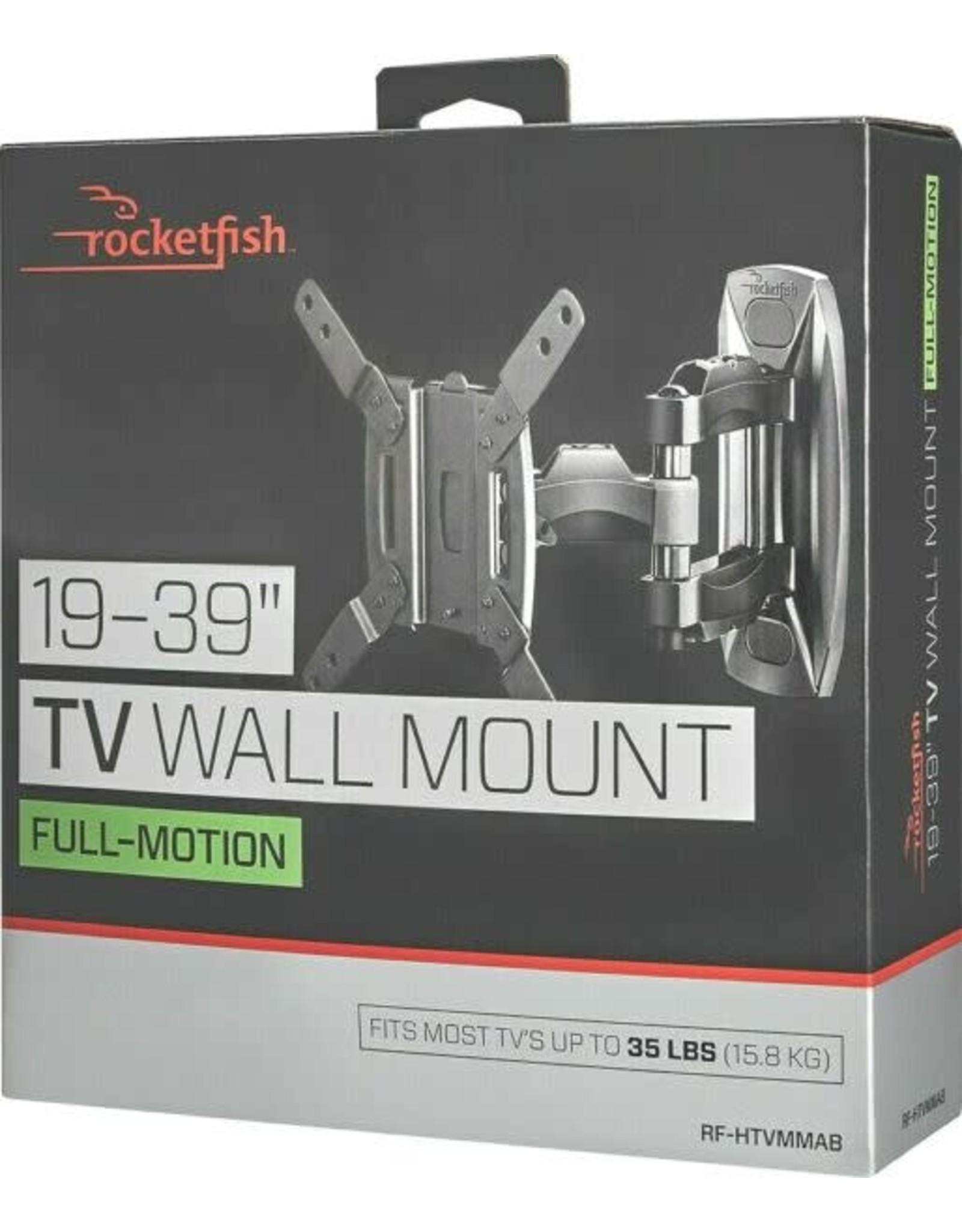 "Rocketfish™ Rocketfish™ - Full-Motion TV Wall Mount for Most 19"" - 39"" TVs - Black"