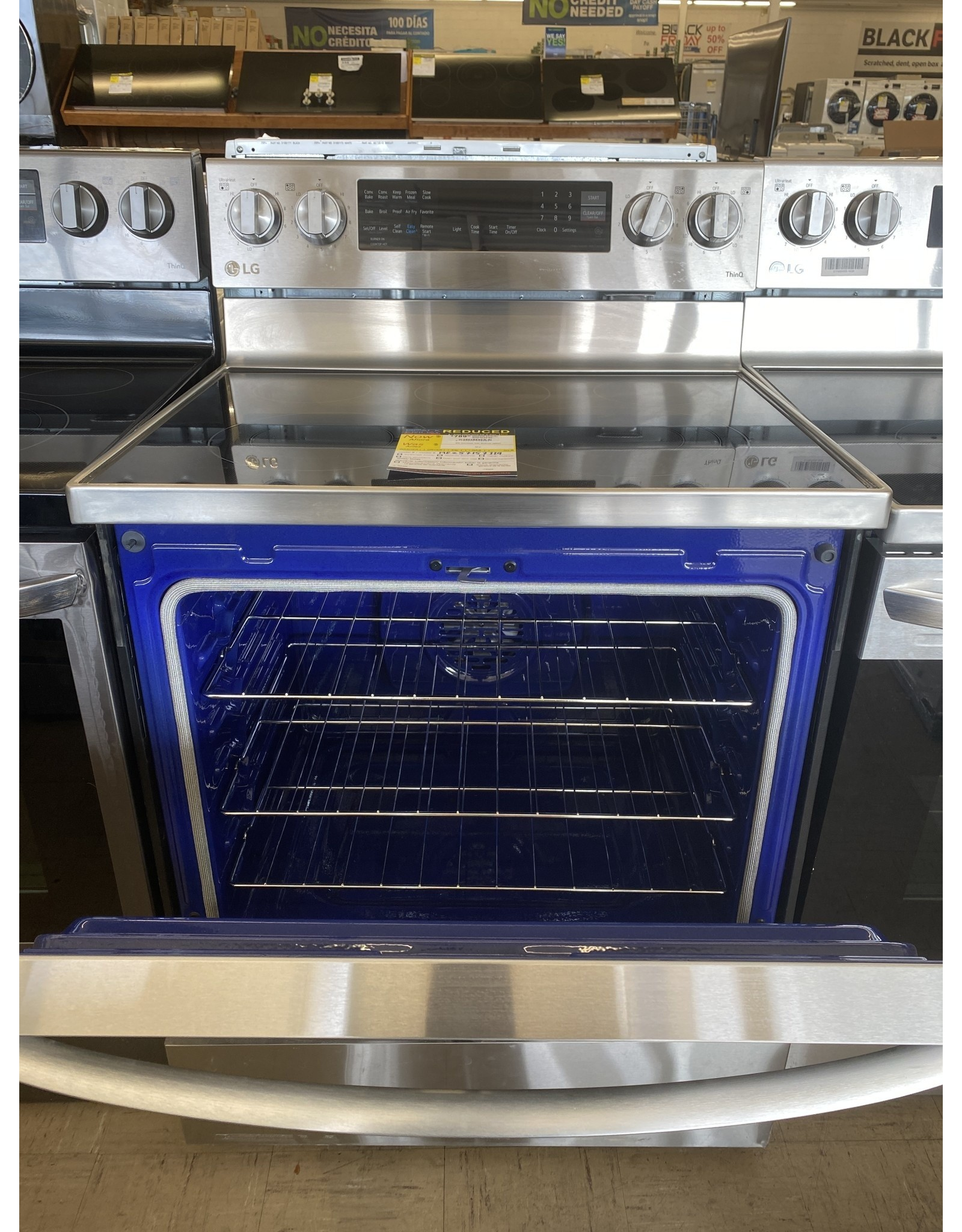 LG Electronics LREL6325F 6.3 cu. ft. Smart True Convection InstaView Electric Range Single Oven with Air Fry in Printproof Stainless Steel