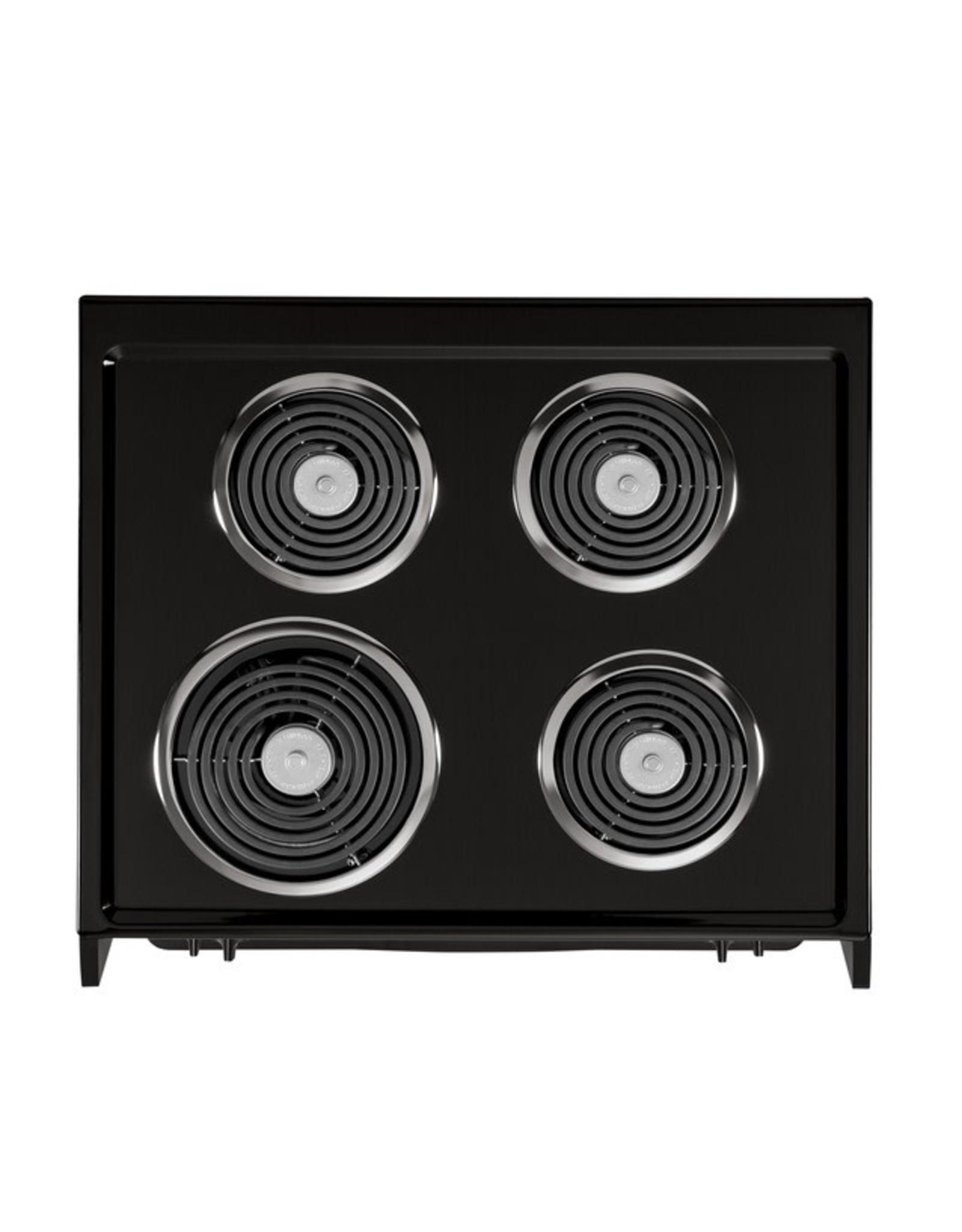 GE JM250DFBB GE 27-in 4 Elements 3-cu ft Self-Cleaning Drop-In Electric Range (Black)