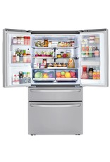 LG Electronics 29.7 cu.ft. Smart French 4-Door, Door-In-Door Full Convert with Craft Ice Refrigerator in PrintProof Stainless Steel