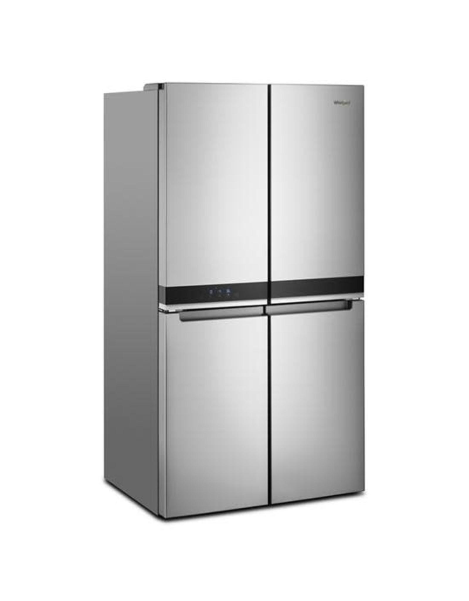 WHIRLPOOL WRQA59CNKZ  36 in. 19.4 cu. ft. 4-Door French Door Refrigerator in Fingerprint Resistant Stainless Steel, Counter Depth
