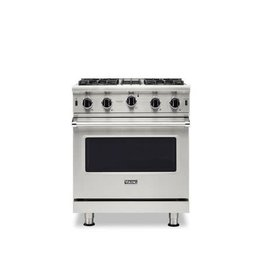 """viking VGIC53024BSS Viking Professional 5 Series 30"""" Gas Range with VariSimmer on All Burners and BlackChrome Knobs - Natural Gas - Stainless Steel"""