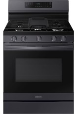 SAMSUNG NX60A6511SG 6 cu. ft. Smart Wi-Fi Enabled Convection Gas Range with No Preheat AirFry in Black Stainless Steel