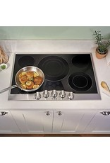 viking RVEC3365BSB 36 Inch Electric Cooktop with 5 Elements, Glass Ceramic Surface, QuickCook™ Surface Elements, Wear-Resistant Glass, Metal Die-Cast Knobs, High Infrared Transmission, and Hot Surface Indicator Lights