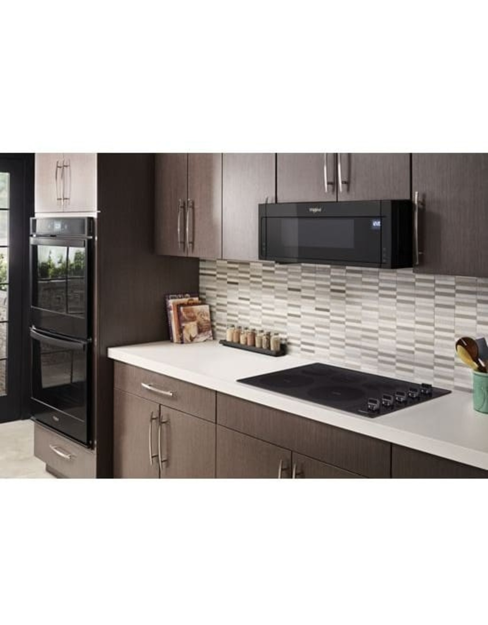 WHIRLPOOL WCE77US0HB 30 in. Radiant Electric Ceramic Glass Cooktop in Black with 5 Elements including 2 Dual Radiant Elements