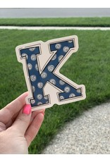 """K"" Go Cats sticker"