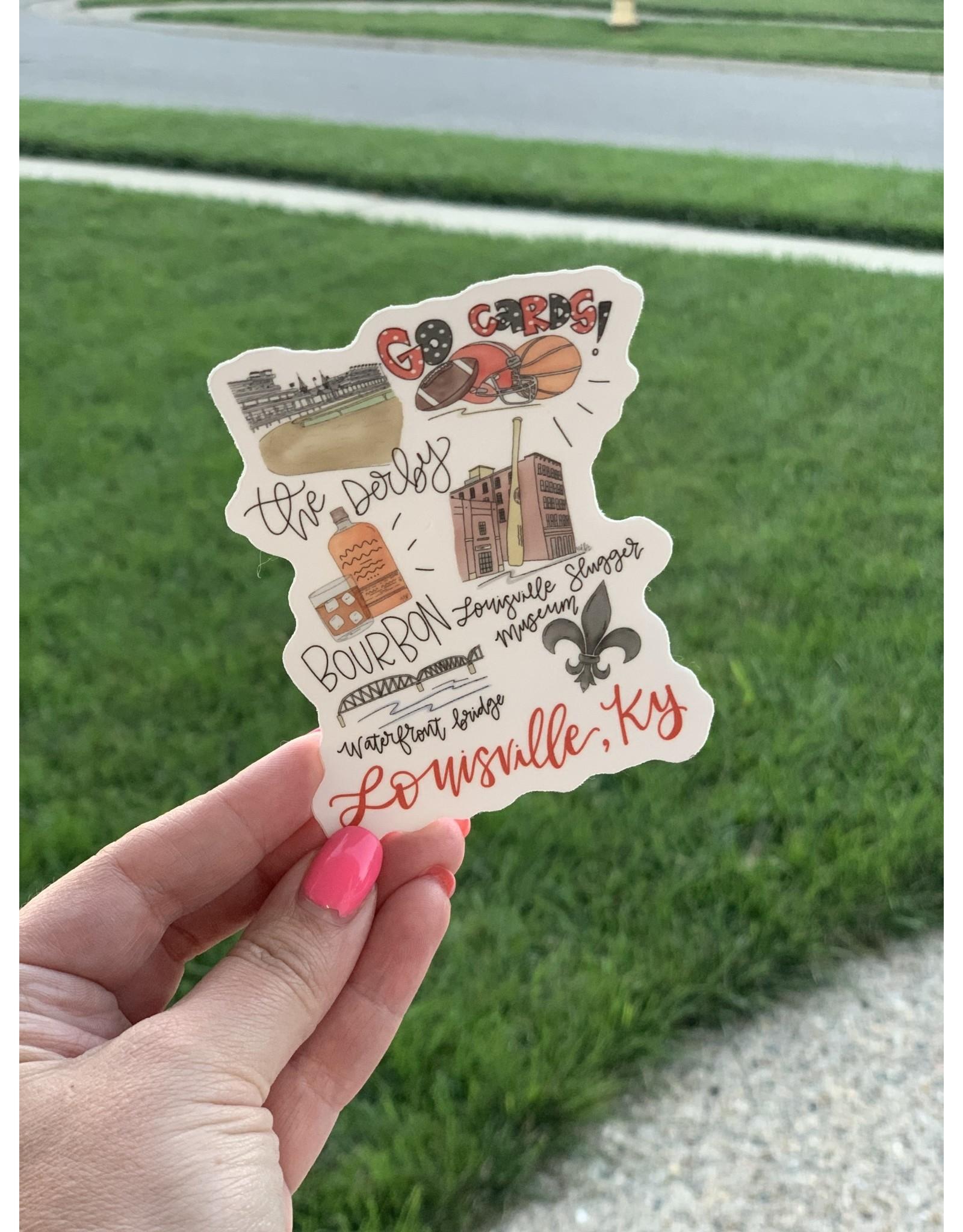 Around the town sticker (Louisville)