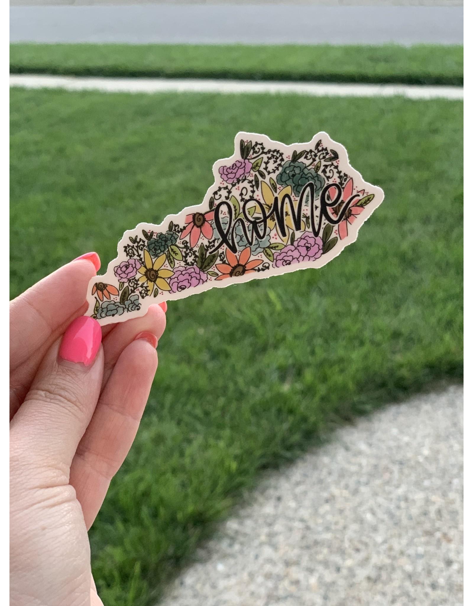 Floral HOME Kentucky sticker