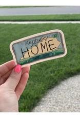HOME license plate sticker