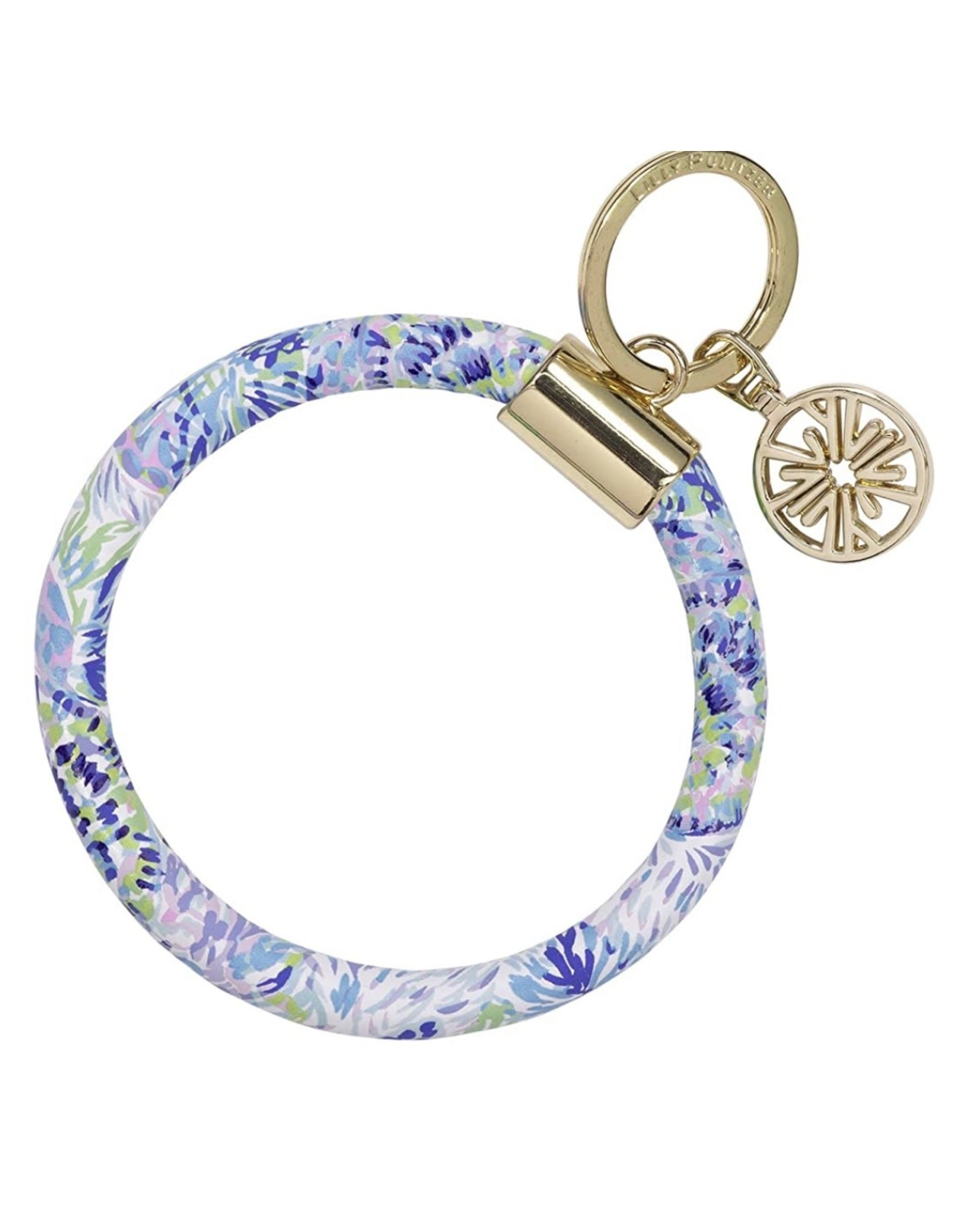 Shell of a Party Round Keychain
