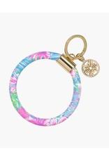 Swizzle In Round Keychain