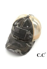 Grey Camo Flag Hat