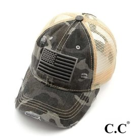 Grey Camo Flag Hat