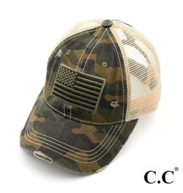 Green Camo Flag Hat