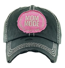 Mom Mode hat Grey