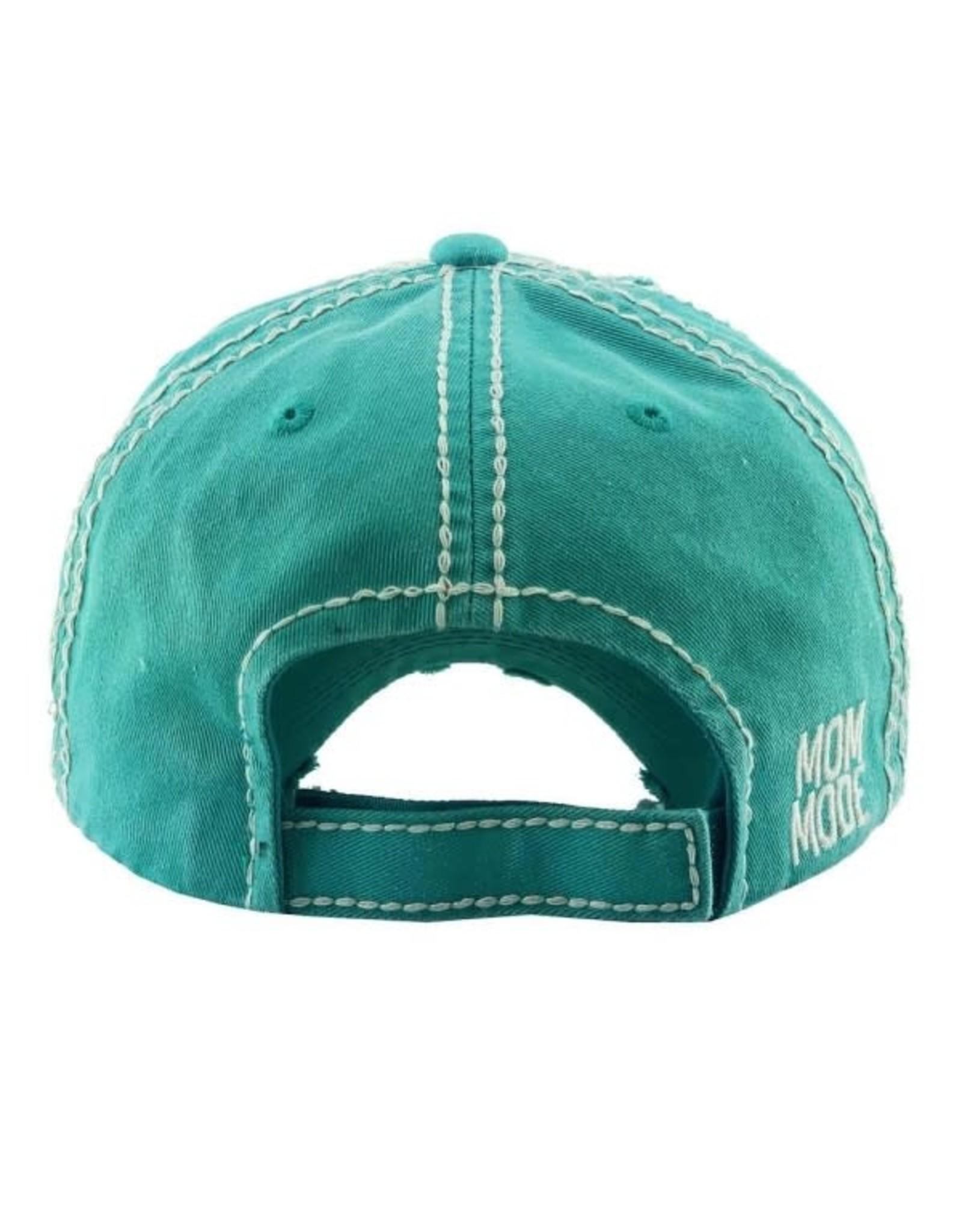 Mom Mode Hat Teal