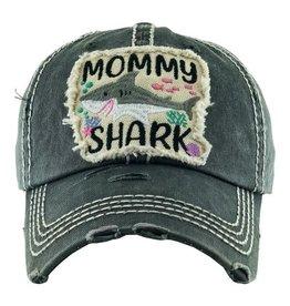 Mommy Shark hat (gray)