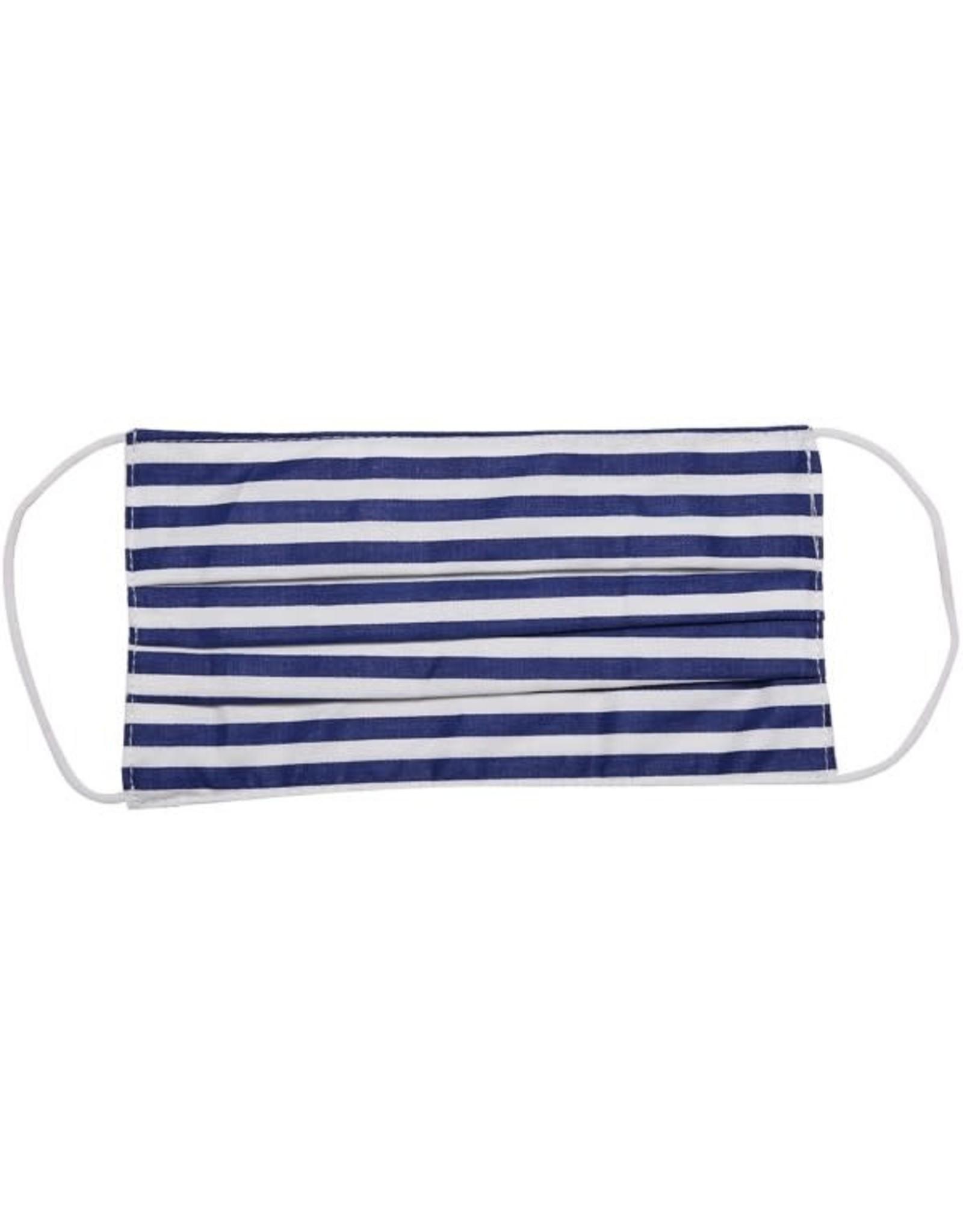 Navy & White Stripe Mask