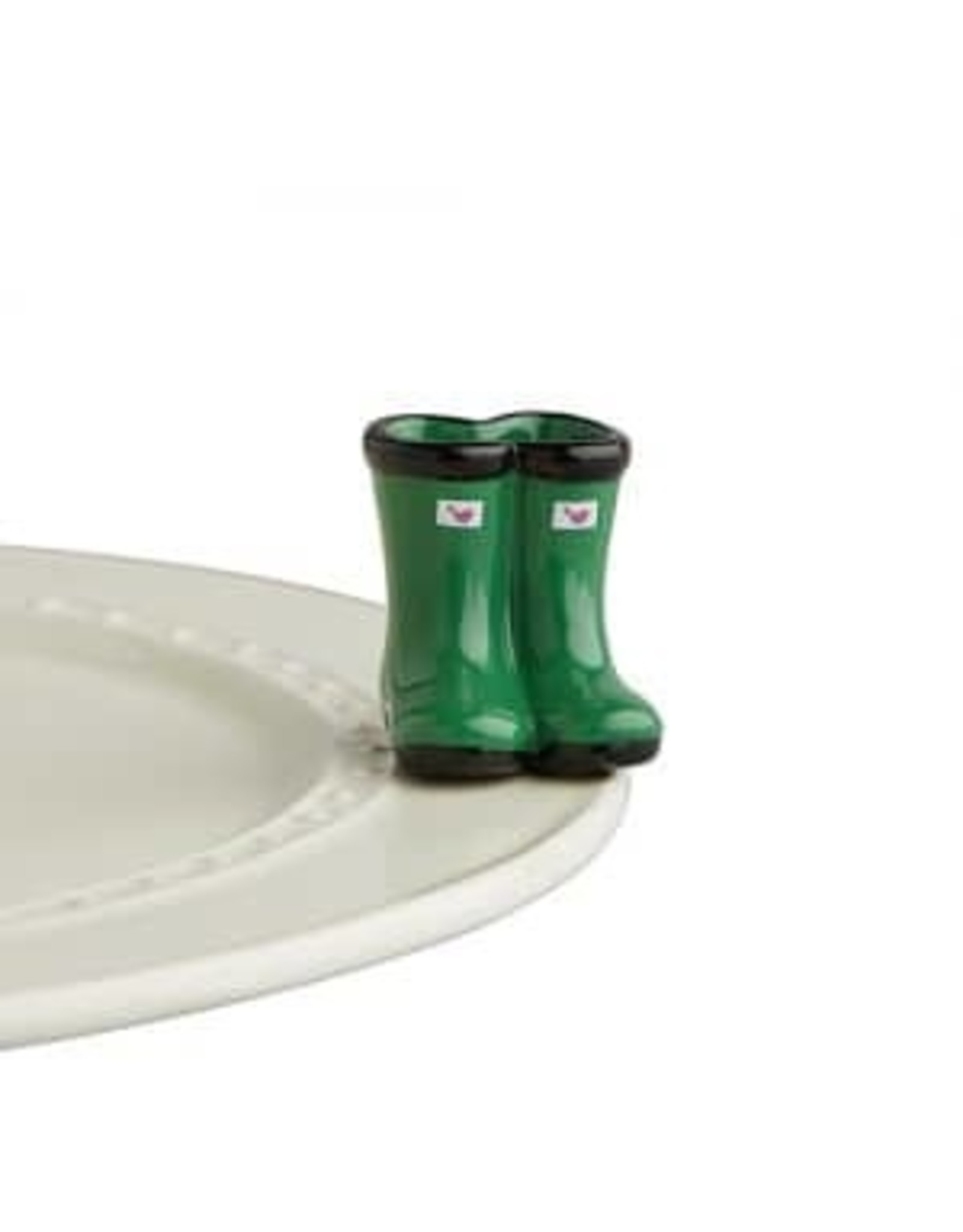Nora Fleming Jumpin' puddles ( green  wellies )