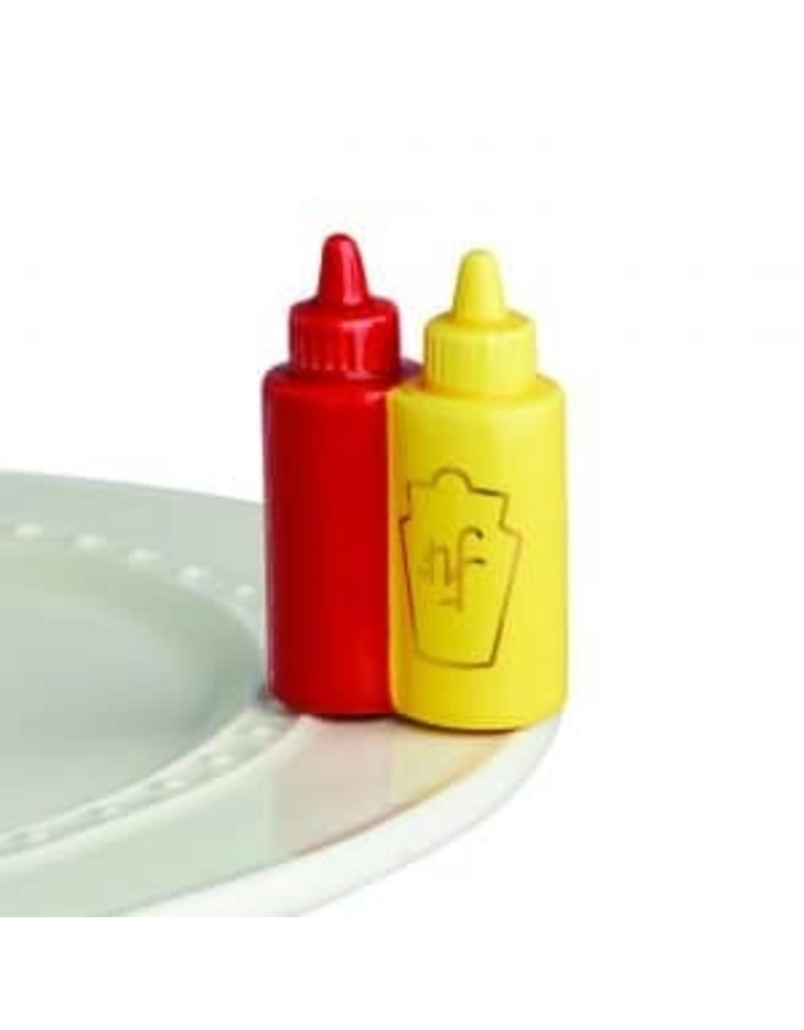 main squeeze ( ketchup/mustard )