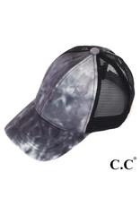 Black tie-dye trucker hat