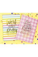 Stripe Gingham Notebook Set of 2