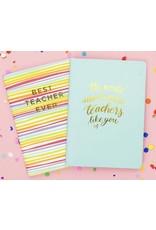 Best Teacher Ever Notebook Set of 2