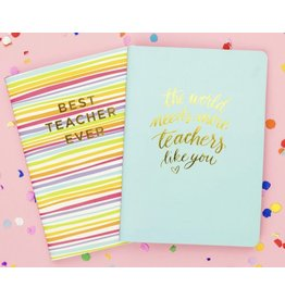 Best Teacher Ever Notebook Set of 2
