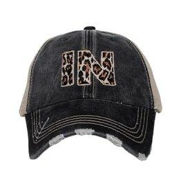 Indiana Leopard Trucker Hat
