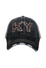 Kentucky Leopard Trucker Hat